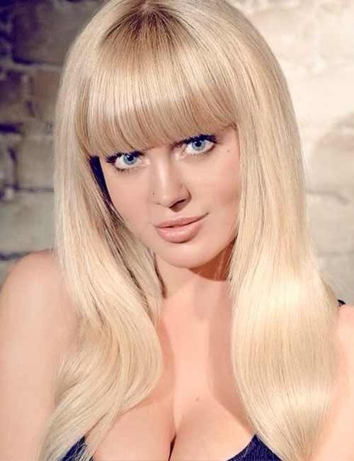 Best Long Hair With Bangs Looks - Long Blonde Hair With Traditional Bangs