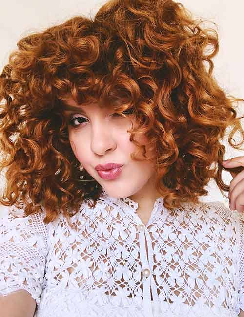 Best Long Hair With Bangs Looks - Thick Curly Bangs