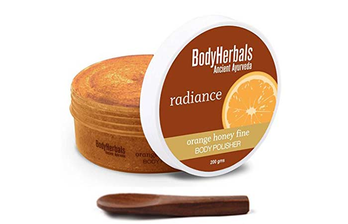 Body Polishing At Home - Body Herbals Orange Honey Body Polisher