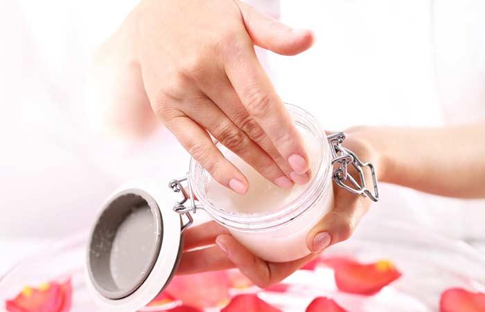 2. Sugar, Olive Oil, And Rose Petals Body Polish