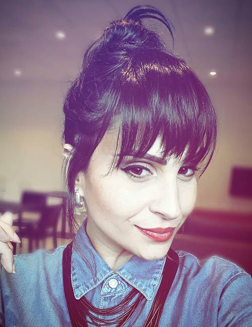 Best Long Hair With Bangs Looks - Bun With Long Tapered Bangs