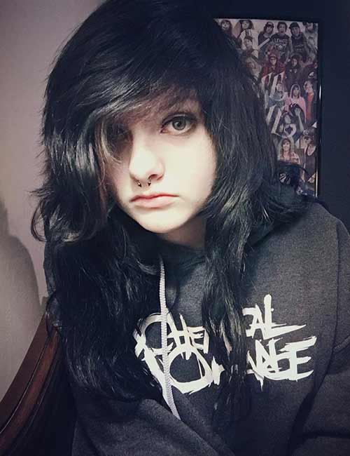 Best Long Hair With Bangs Looks - The Emo Bangs