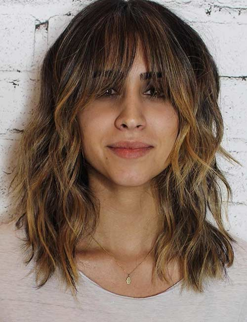 Best Long Hair With Bangs Looks - Long Bangs