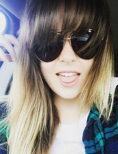 Best Long Hair With Bangs Looks - Straight Hair With Bangs