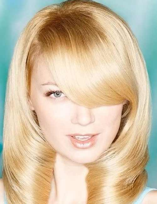 Best Long Hair With Bangs Looks - The Heavy Wave Deep Swept Bang