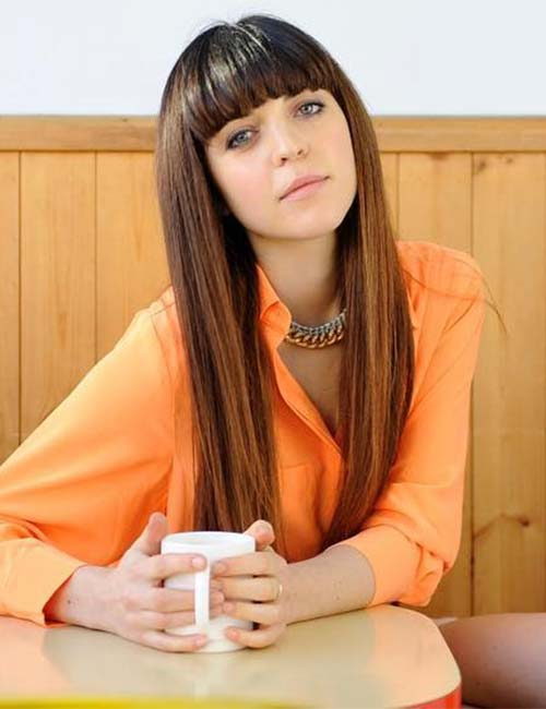 Best Long Hair With Bangs Looks - Short Bangs On Long Hair