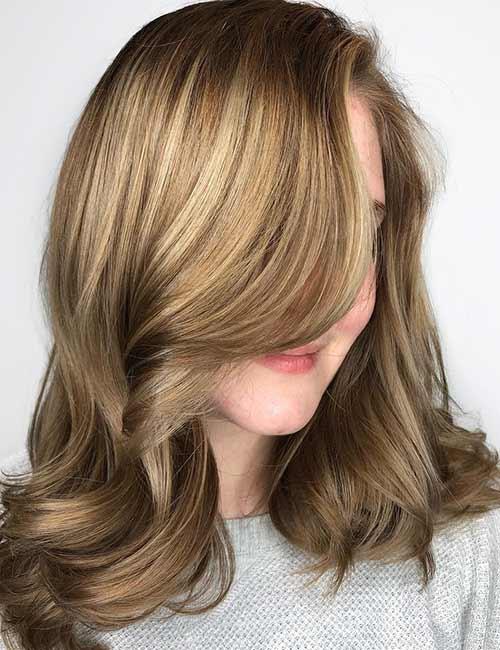 Best Long Hair With Bangs Looks - Long Wavy Hair With Long Wavy Bangs