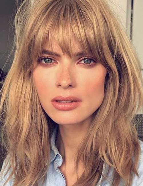 Best Long Hair With Bangs Looks - Long Hair Front Bangs