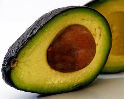 Avocado on frizzy hair