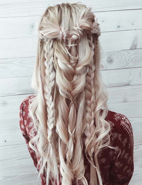 Boho Braided Half 'Do