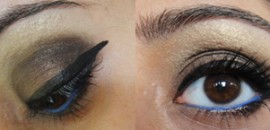 Bold Black Brown Smokey eye look