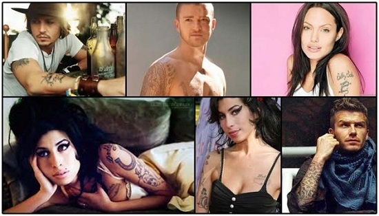 Celebrities with tattoos