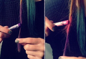 Chalk your hair