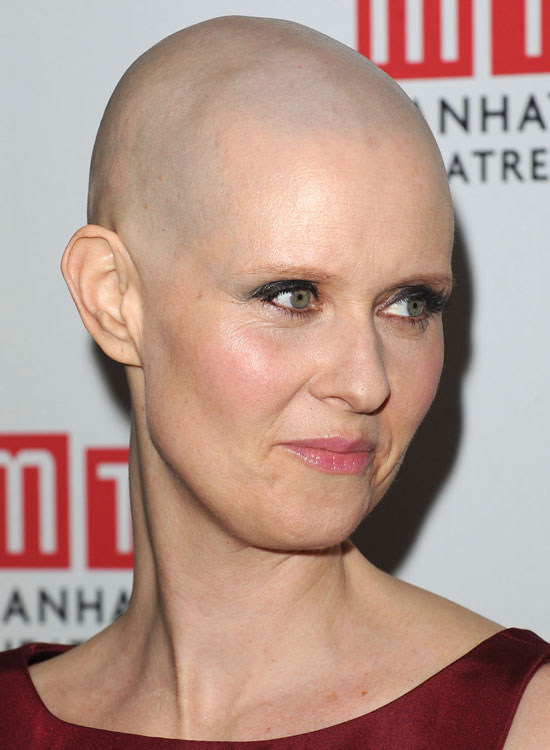 Top 50 bold bald and beautiful hairstyles complete bald hairstyle by cynthia nixon urmus Gallery