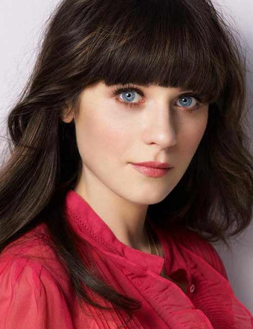Best Long Hair With Bangs Looks - Oval Face