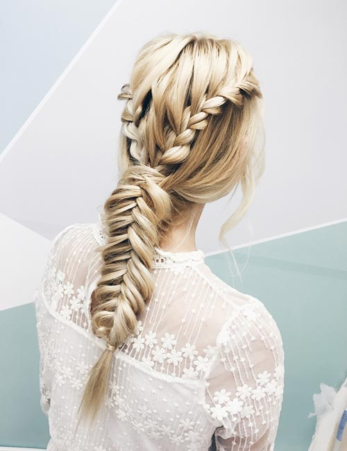Double-Braided Single Fishtail Braid
