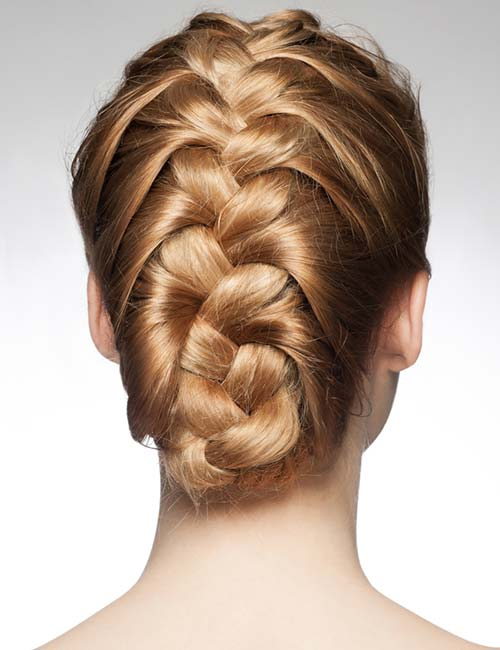 Folded Braided Updo
