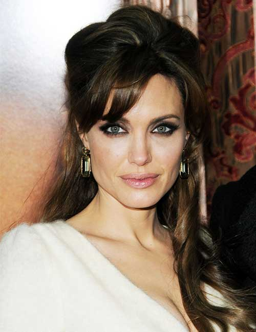 Best Long Hair With Bangs Looks - High Foreheads
