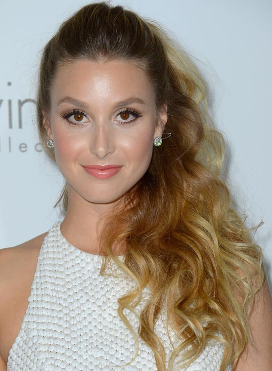 High Voluminous Pony with Pouf and Ombre Waves