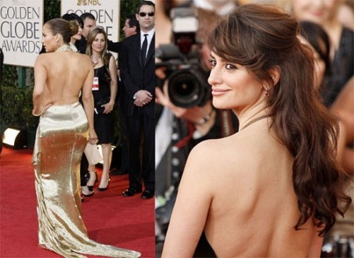 Jennifer Lopez in golden blingy gown