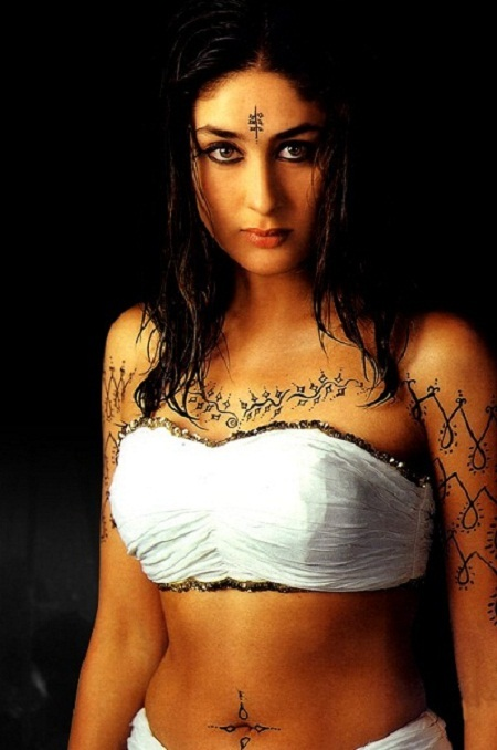 Kareena Kapoor with tatoos