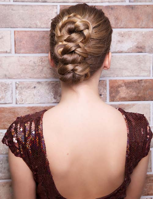 Knotted Braided Updo