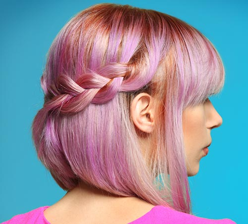 Light Pink Semi-Crown Braid