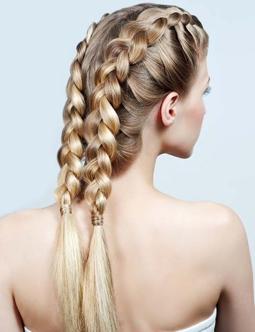 Loose Double Braids