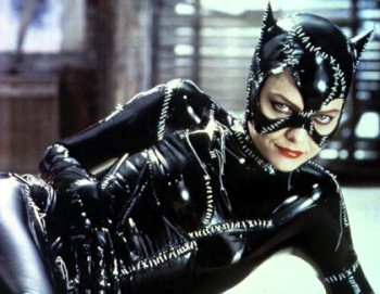 Michelle Pfeiffer with catwoman makeup