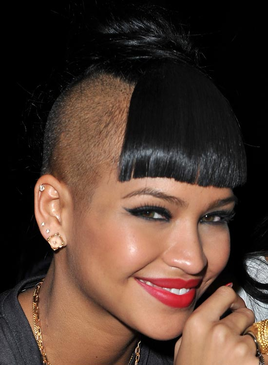 Partially-Bald-Hairstyle-with-Front-Fringes-and-High-Bun