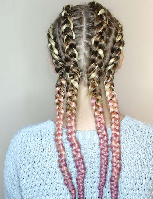 Quad Dutch Braids