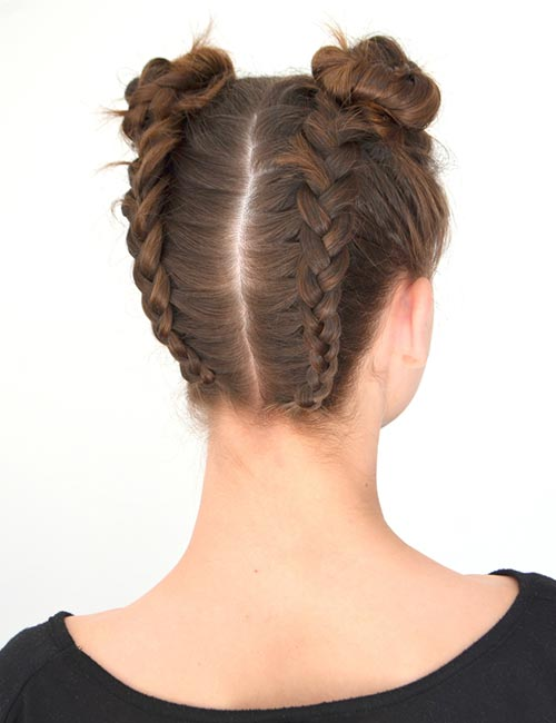 Reverse Braided Buns