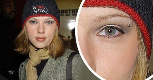 Scarlett Johansson eyebrow piercing