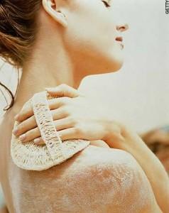 Scrub your skin to remove dead skin