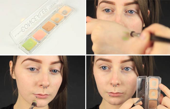 How To Hide Pimples With Makeup - Step 3 Apply Color Corrector and Concealer
