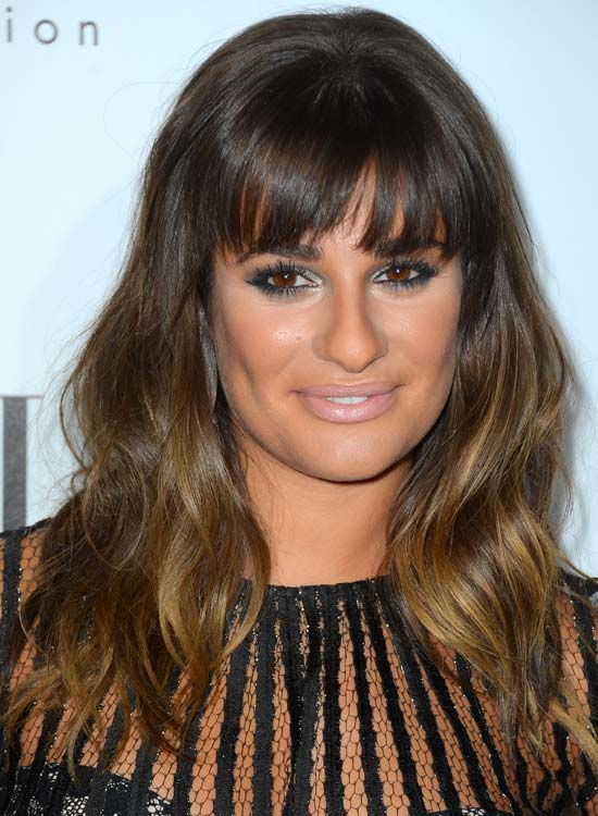 Volumized Ombre Waves with Front Fringes