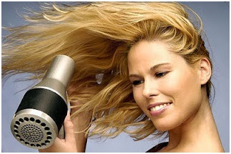Blow dry for add volume to hair