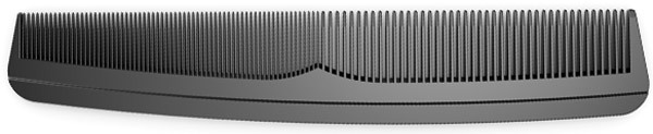 fine and wide tooth comb