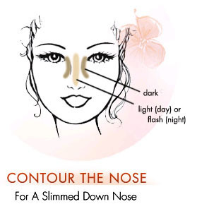 slim your nose with makeup