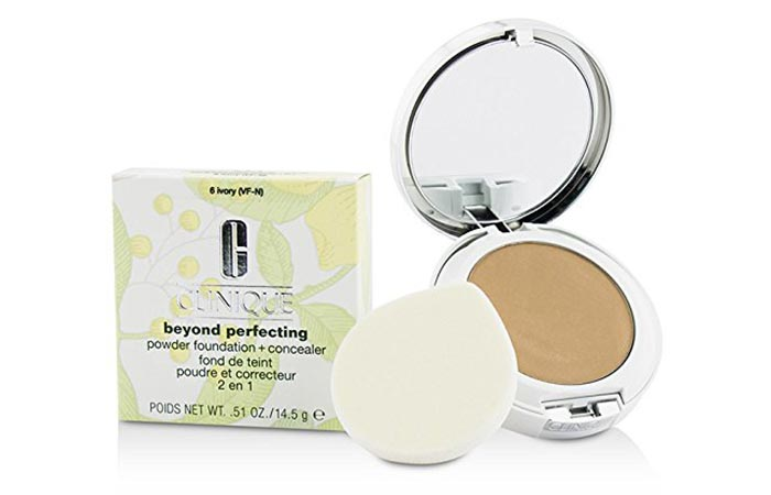 Best Foundations For Sensitive Skin - 8. Clinique Beyond Perfecting Powder Foundation + Concealer