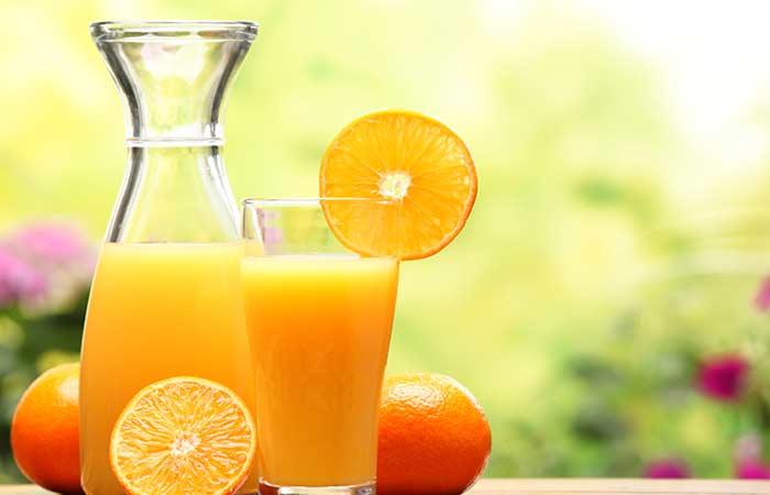 evde cilt bakımı portakal suyu