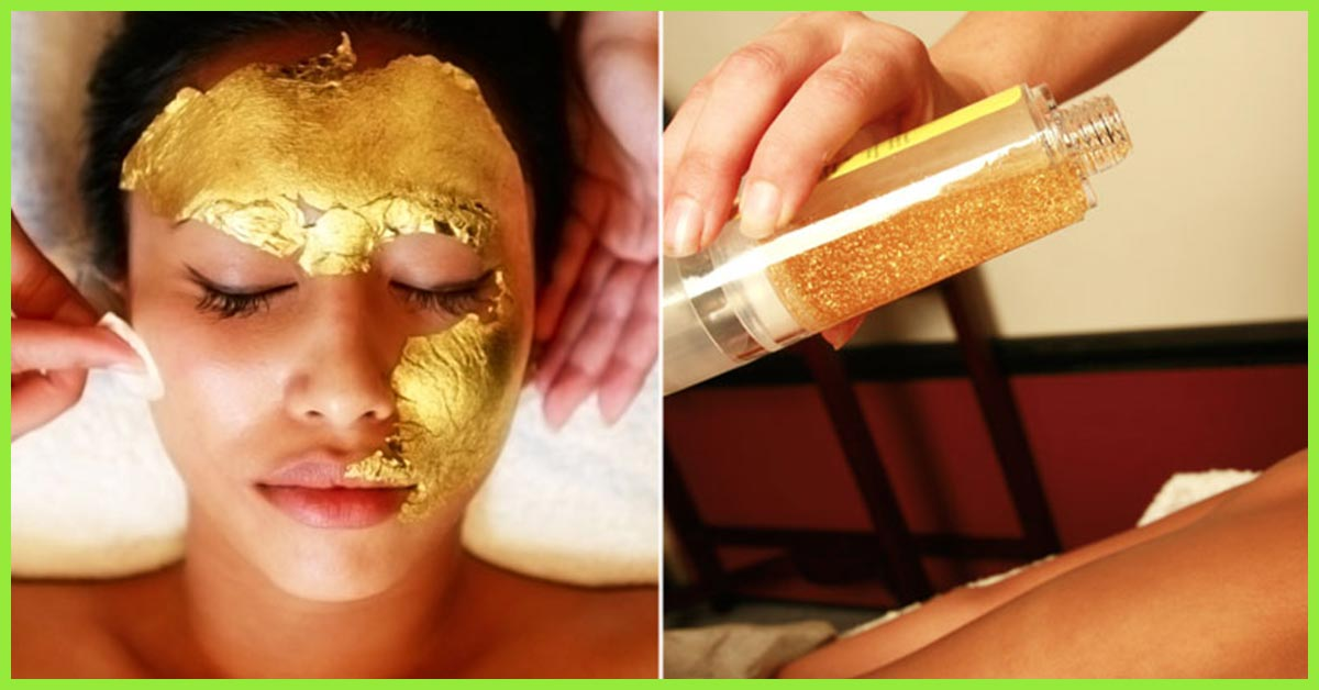 Image result for gold facial