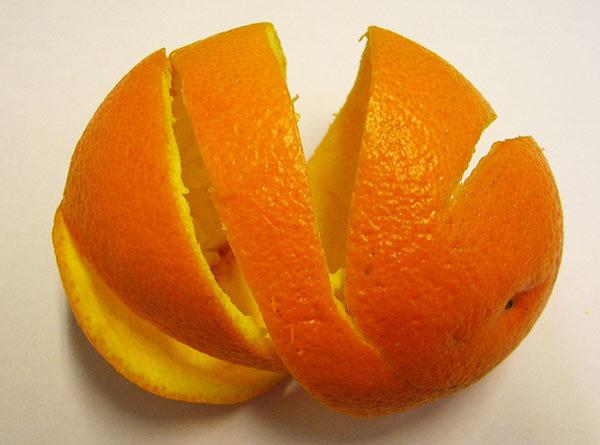 Orange peel for pre bridal skin care
