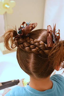 bridal hairstyles for school going girls