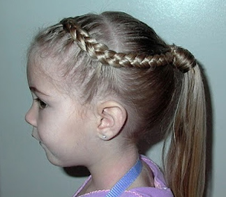 bridal ponytail hairstyles for kids