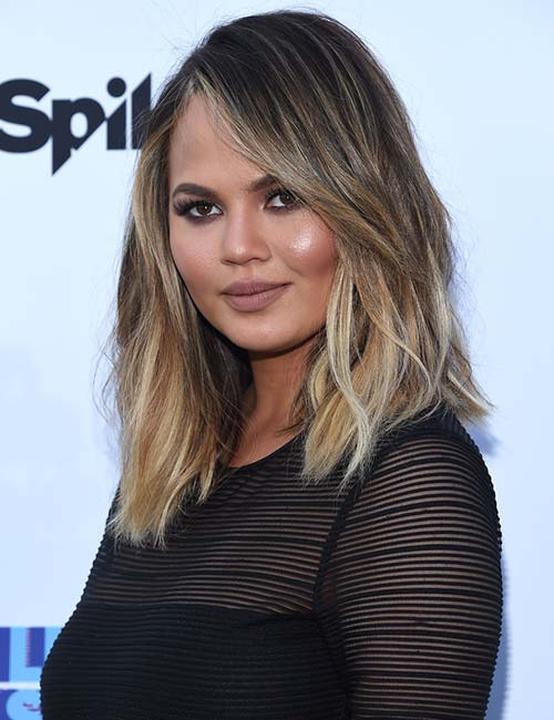 Short Hairstyles For Round Faces - Balayage Long Bob