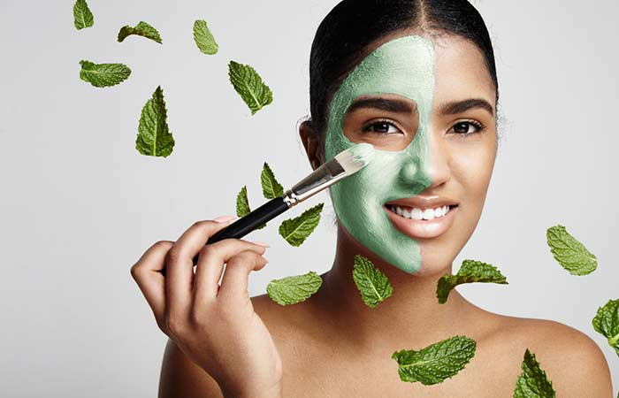 11. Mint Leaves Face Mask For Acne Scars