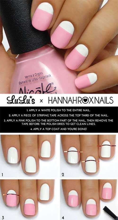 11. Pastel Pink and White Nails
