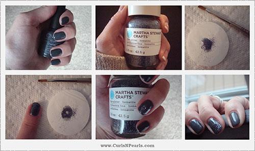 Easy Nail Designs For Beginners - 11. Smokey Grey Nail Art