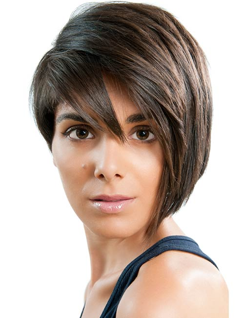 Short Hairstyles For Round Faces - Dramatic Edgy Pixie